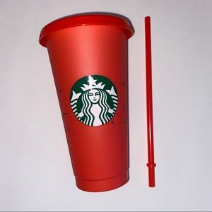 STARBUCKS RED Color-Changing Reusable Cold Cup